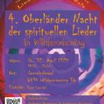 4. Oberländer Nacht der spirituellen Lieder