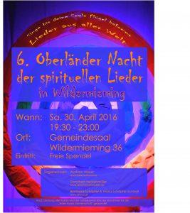 6. Oberländer Nacht der spirituellen Lieder