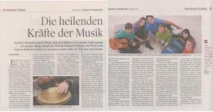 """Artikel """"Heilsames Singen"""" in der TT vom So 27.12.11"""