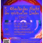 5. Oberländer Nacht der spirituellen Lieder in IMST