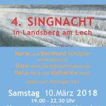 4. Singnacht in Lansberg am Lech