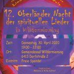 12. Oberländer Liedrnacht