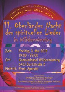 Plakat 11. Oberländer Liedernacht